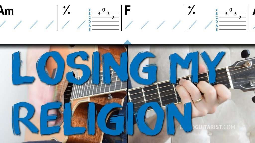 Losing My Religion\' Guitar Tutorial — Intro Melody + Chords + ...
