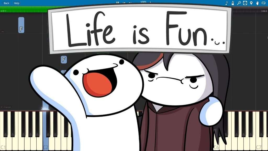Image of: Gif Life Is Fun Piano Cover Tutorial The Odd1sout Ft Boyinaband Видео Okclipsnet Life Is Fun Piano Cover Tutorial The Odd1sout Ft Boyinaband