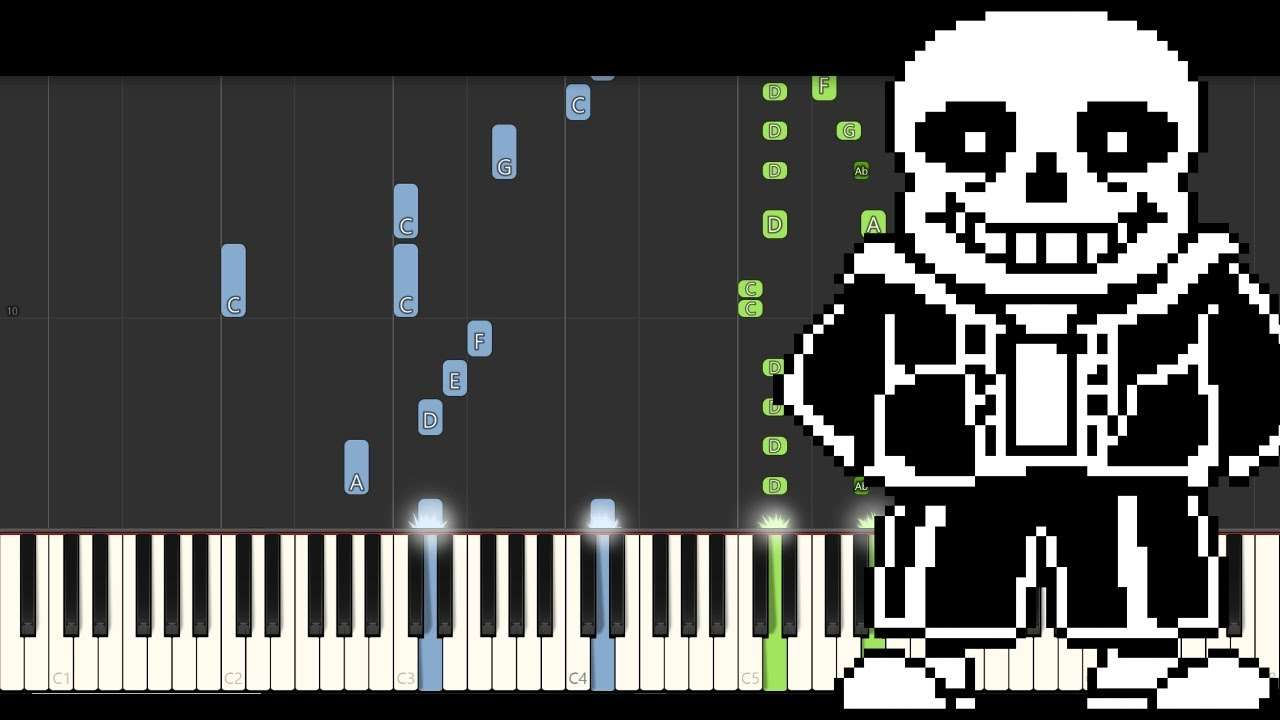 Undertale - Megalovania (Piano Tutorial) [Synthesia] Видео