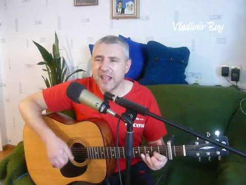 """Бабочка луна"" Александр Айвазов - cover под гитару Видео"