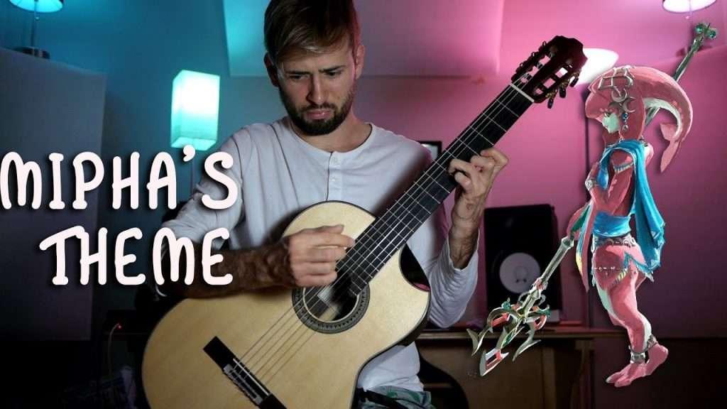 Zelda Breath of the Wild Guitar Cover - Mipha's Theme Видео