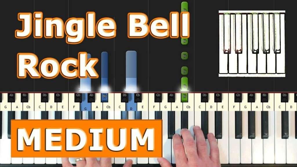 Jingle Bell Rock - Piano Tutorial Easy - Sheet Music (Synthesia) Видео