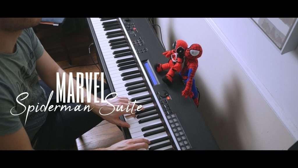 Spiderman Suite (PS4) - Piano Видео