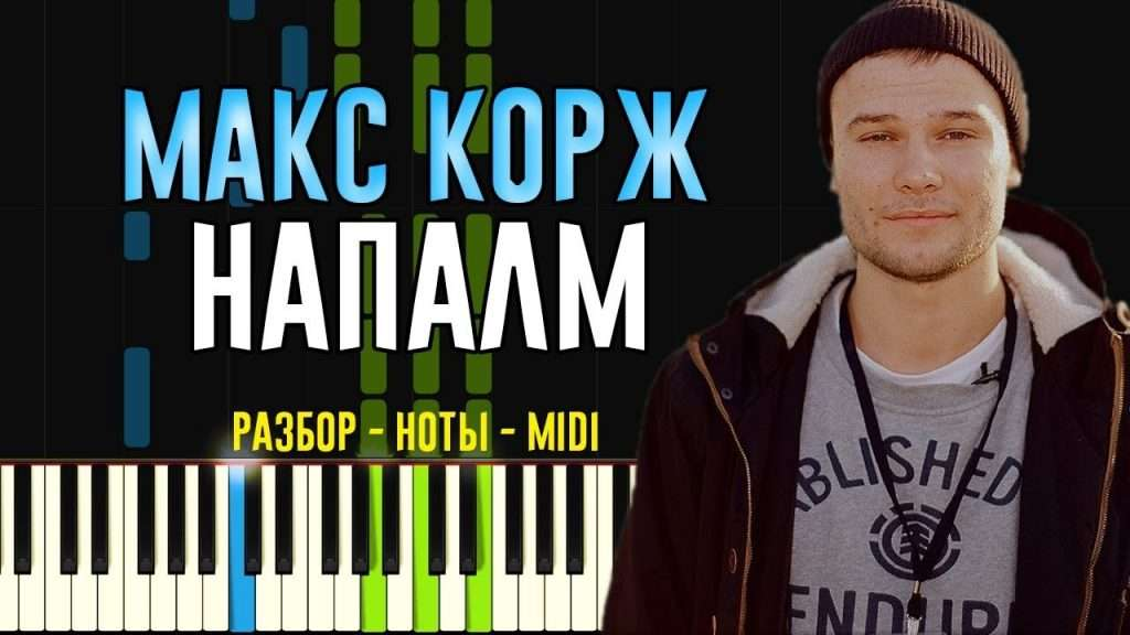 Макс Корж - Напалм   На Пианино   Ноты Видео