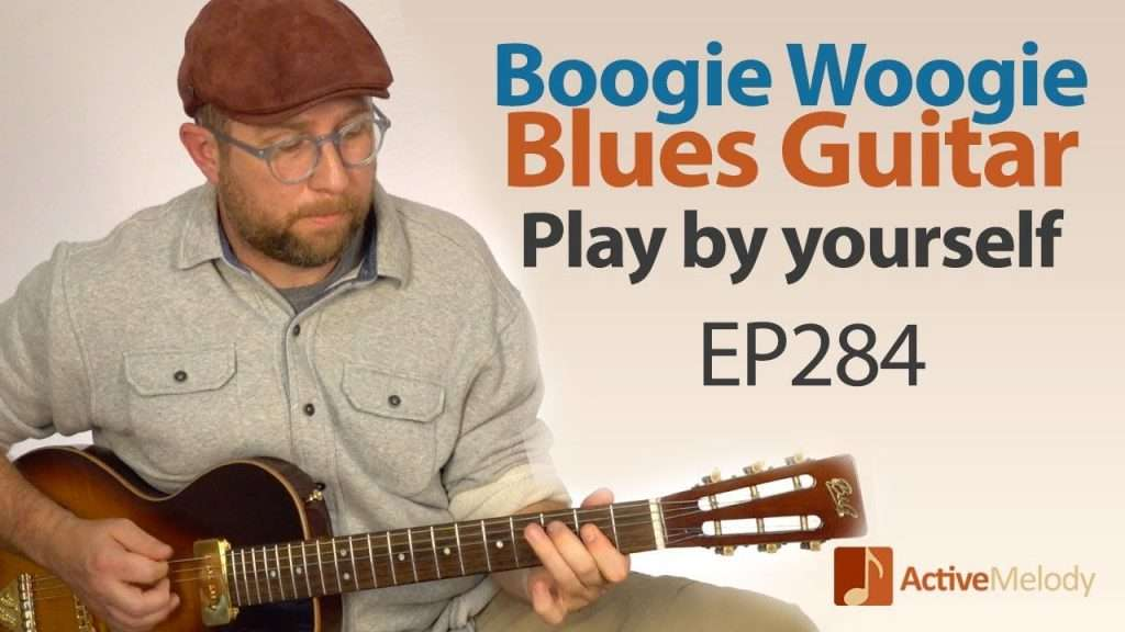 Blues Boogie Woogie Composition that you can play by yourself on guitar - Blues Guitar Lesson EP284 Видео