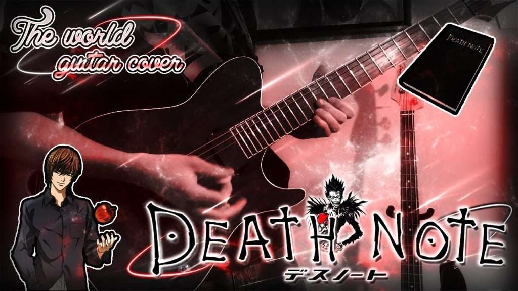 """""""DEATH NOTE'"""" Opening 1 (The WORLD) GUITAR COVER - Maxis9 Видео"""