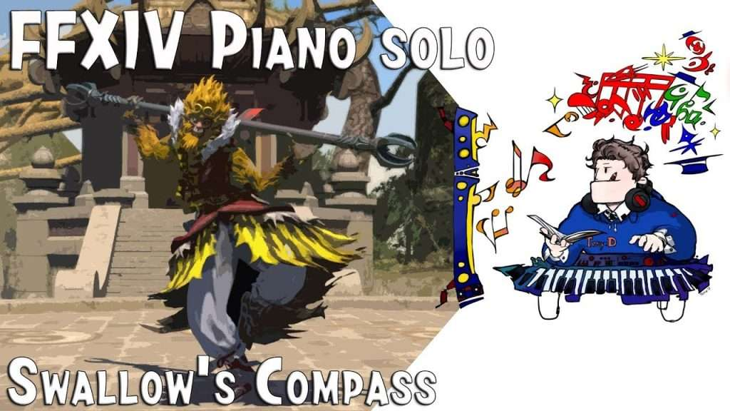 Final Fantasy XIV ( 파판14 ) Swallow's Compass ( 강엔 종묘 ) piano cover (Arr.by Terry:D) Видео