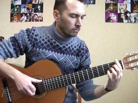 """""""Девчонка"""" - Ж.Белоусов (соло кавер на гитаре) уроки гитары Киев Видео"""