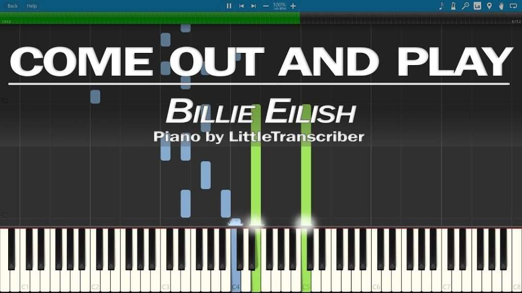 Billie Eilish - come out and play (Piano Cover) Synthesia Tutorial by LittleTranscriber Видео