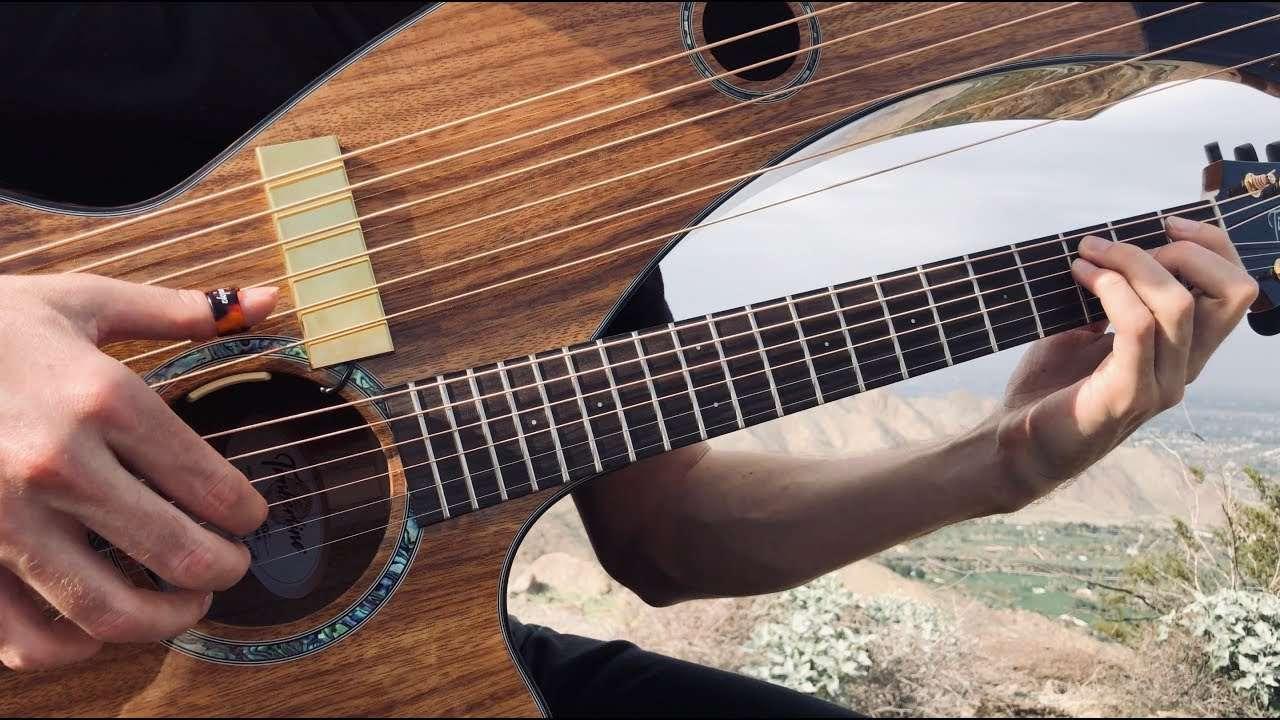 Love Hurts - Nazareth - Harp Guitar Cover - Jamie Dupuis Видео