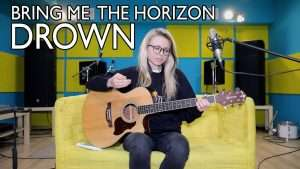 Как играть BRING ME THE HORIZON - DROWN (ACOUSTIC)/разбор/аккорды/бой/cover Видео
