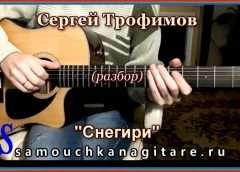 Сергей Трофимов — Снегири (кавер) Аккорды, Разбор песни на гитаре Видео
