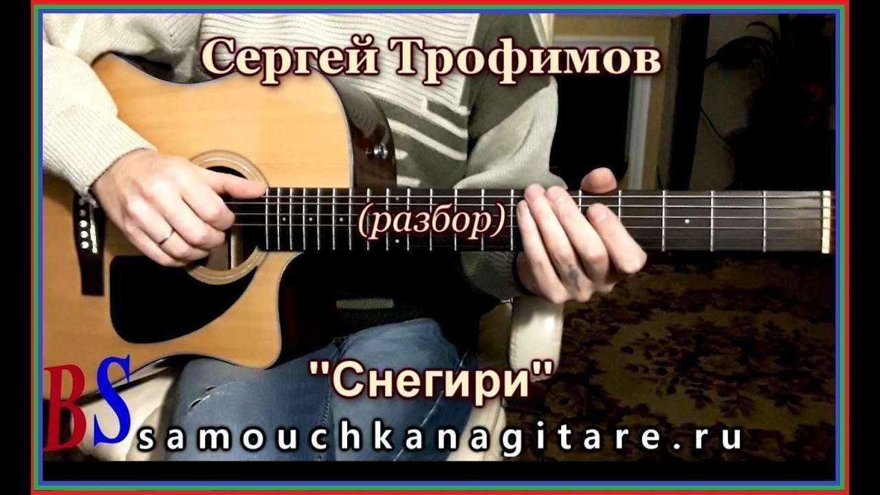Сергей Трофимов - Снегири (кавер) Аккорды, Разбор песни на гитаре Видео