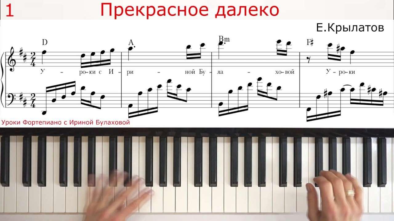 САМАЯ ВОЛШЕБНАЯ МУЗЫКА ДЕТСТВА на Piano пианино Прекрасное далеко Гостья из будущего Ноты Аккорды Видео